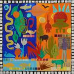 "<font size=7 color=""#ff0000"">&#9679;</font>SOLD </br>African Tapestry: Tales from Togo </br>4/4/15  New York, NY </br>collage </br>posted 2:30pm 4/5/15"