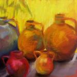 SOLD  Pot Belly Pottery </br>4/5/15  New York, NY </br>pastel </br>posted 8:45pm 4/6/15