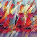 Folk Dance </br>4/8/15  New York, NY </br>pastel </br>posted 4/9/15  10:55am