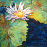 Water Lily  </br>4/12/15  New York, NY </br>pastel </br>posted 4/13/15  12:25pm