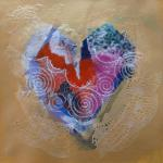 Feelin' the Love </br>4/13/15 New York, NY </br>acrylic, prepared and found paper </br>posted 4/14/15 3:15pm