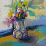 My Wonky Pottery Vase </br>4/11/15 New York, NY </br>pastel, graphite, acrylic wash </br>posted 4/12/15 12:45pm