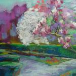 A Day in the Park </br>4/15/15  New York, NY </br>pastel </br>posted 4/16/15  11:30am