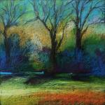 SOLD Remnants </br>4/16/15  New York, NY </br>oil pastel </br>posted 4/17/15  5:35pm