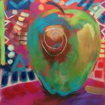 Golden Delicious </br>4/23/15  New York, NY </br>acrylic </br>posted 4/24/15  3:05pm