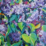 SOLD Lilacs 5/03/15  New York, NY acrylic posted 5/04/15  3:30pm