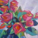 Quick Study Roses 5/05/15 New York, NY acrylic posted 5/06/15 12:30pm