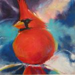 "<font size=7 color=""#ff0000"">&#9679;</font>SOLD </br>Cardinal </br>1/1/15, New York, NY </br>acrylic and pastel </br>posted 1/1/15 11:20pm"