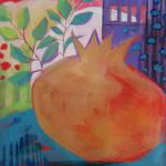 Pomegranate Moon </br>5/22/15 New York, NY </br>acrylic </br>posted 5/23/15  2:00pm