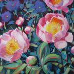 Peonies </br>5/24/15 New York, NY </br>acrylic </br>posted 5/25/15  5:00pm