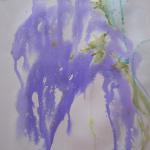 SOLD The Zen of Wisteria </br>5/27/15 New York, NY </br>ink and water color </br>posted 5/28/15 4:00pm
