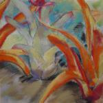 Bromeliads Are Beautiful, Too 5/30/15  Nassau, Bahamas watercolor, pastel, charcoal posted 5/31/15  2:00am