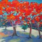 ​SOLD Flame Tree Grove 6/02/15  New York, NY acrylic posted 6/03/15  5:30pm