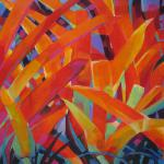 ​A Tangle of Orange Bromeliads 6/04/15  New York acrylic posted 6/05/15 4:00pm