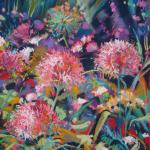 SOLD Garden of Fireworks 6/11/15  New York, NY pastel posted 6/12/15 3:00pm