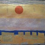 Copper Moon 6/13/15  New York, NY prepared papers, metallic paint ​posted 6/14/15   4:45pm