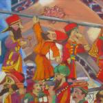 Puppets in the Grand Bazaar, Istanbul </br>6/16/15 New York, NY </br>pastel </br>posted 6/17/15  2:30pm