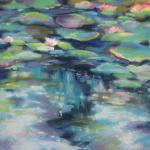 Reflection II, The Pond ​</br>6/18/15 New York, NY </br>pastel over watercolor </br>posted 6/19/15 4:00am