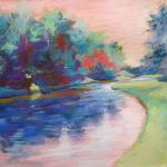 River Bend 7/10/15  New York, NY pastel posted 2:15pm  7/08/15