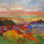 West of the Mississippi 7/16/15  New York, NY pastel on pumice ground posted 3:00pm  7/17/15