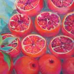"<font size=7 color=""#ff0000"">&#9679;</font>SOLD </br>Pomegranates </br>1/5/15, New York, NY </br>pastel </br>posted 1/5/15 10:15am"