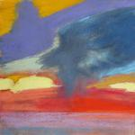 Possibility of Tornadoes 7/26/15  New York, NY pastel over watercolor posted 3:30pm  7/27/15