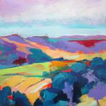 Landscape with Violet Hills 8/18/15 New York, NY acrylic posted 10:00pm 8/23/15