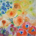 Emile's Garden 8/29/15  New York, NY watercolor posted 1:00am 9/04/15