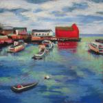 SOLD Rockport Harbor, Massachusetts 8/31/15  New York, NY pastel posted 10:45pm 9/05/15