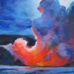 Volcanism 9/02/2015  New York, NY acrylic posted 7:00pm 9/07/15