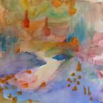 Exotic Lands 9/29/15  New York, NY watercolor posted 5:45pm 10/04/15