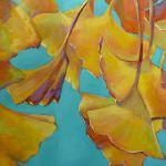 SOLD Gingko Leaves 10/01/15  New York, NY acrylic posted 12:45pm 10/06/15