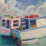 Gypsy in Nassau Harbour </br>1/10/15, New York, NY </br>pastel </br>posted 1/11/15 1:40pm ​