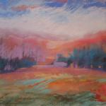 SOLD Mississippi River Ridge ​10/17/15  Minneapolis, MN watercolor, pastel posted 11:15pm 10/24/15