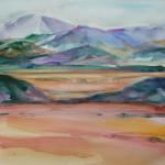High Desert  10/23/15 New York, NY watercolor posted 11:00am 10/31/15