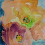 Peach Flower Study 11/04/15 New York, NY watercolor posted 6:00pm 11/11/15