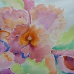 An Orchid for Georgia 11/10/15  New York, NY watercolor posted 3:30pm 11/18/15