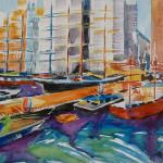 South Street Seaport 11/13/15  New York, NY watercolor posted 11:15 pm 11/21/15