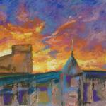 Sunset Over Alexander Avenue 11/15/15 New York, NY mixed media posted 5:15 pm 11/23/15