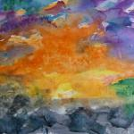Sunrise as Metaphor 11/20/15  Southampton, NY watercolor posted 10:15am 11/28/15