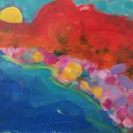 Bold Sky </br>1/20/15, New York, NY </br>acrylic </br>posted 1/21/15 11:45am ​