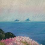 Lost Islands </br>1/21/15, New York, NY </br>pastel </br>posted 1/22/15 12:32pm ​