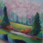 Central Park Sentinals  </br>1/28/15, New York, NY </br>acrylic and pastel </br>posted 1/29/15 11:15am