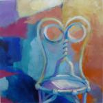 Old Chair, New Day </br>1/31/15, New York, NY </br>acrylic </br>posted 2/1/15 9:45am ​