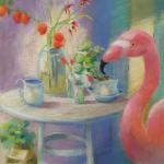 Garden Party </br>2/6/15, New York, NY </br>pastel </br>posted 2/7/15 1:00pm ​