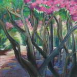 Purple Shade </br>2/8/15, New York, NY </br>oil pastel, soft pastel, oil wash </br>posted 2/9/15 1:45pm ​
