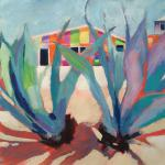 "<font size=7 color=""#ff0000"">&#9679; </br>Island Aloe </br>2/14/15, New York, NY </br>acrylic </br>posted 2/15/15 2:45pm ​"