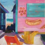 Conch Fritters </br>2/20/15, New York, NY </br>acrylic </br>posted 2/21/15 1:00pm
