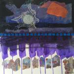 SOLD Venus Rising </br>2/21/15, New York, NY </br>mixed media, found and prepared papers </br>posted 2/22/15 12:30pm