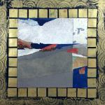 Blueprint for an Ancient Civilization </br>2/27/15, New York, NY </br>mixed media: acrylic, found & prepared paper, glass beads </br>posted 2/28/15 10:33pm